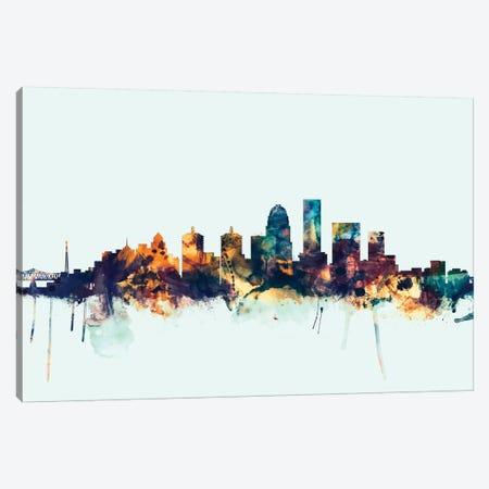 Louisville, Kentucky, USA On Blue Canvas Print #MTO325} by Michael Tompsett Art Print