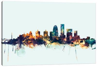 Louisville, Kentucky, USA On Blue Canvas Art Print