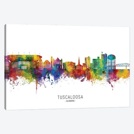 Tuscaloosa Alabama Skyline City Name Canvas Print #MTO3261} by Michael Tompsett Canvas Print