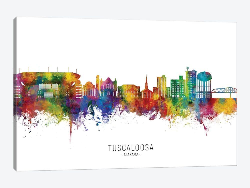 Tuscaloosa Alabama Skyline City Name by Michael Tompsett 1-piece Art Print