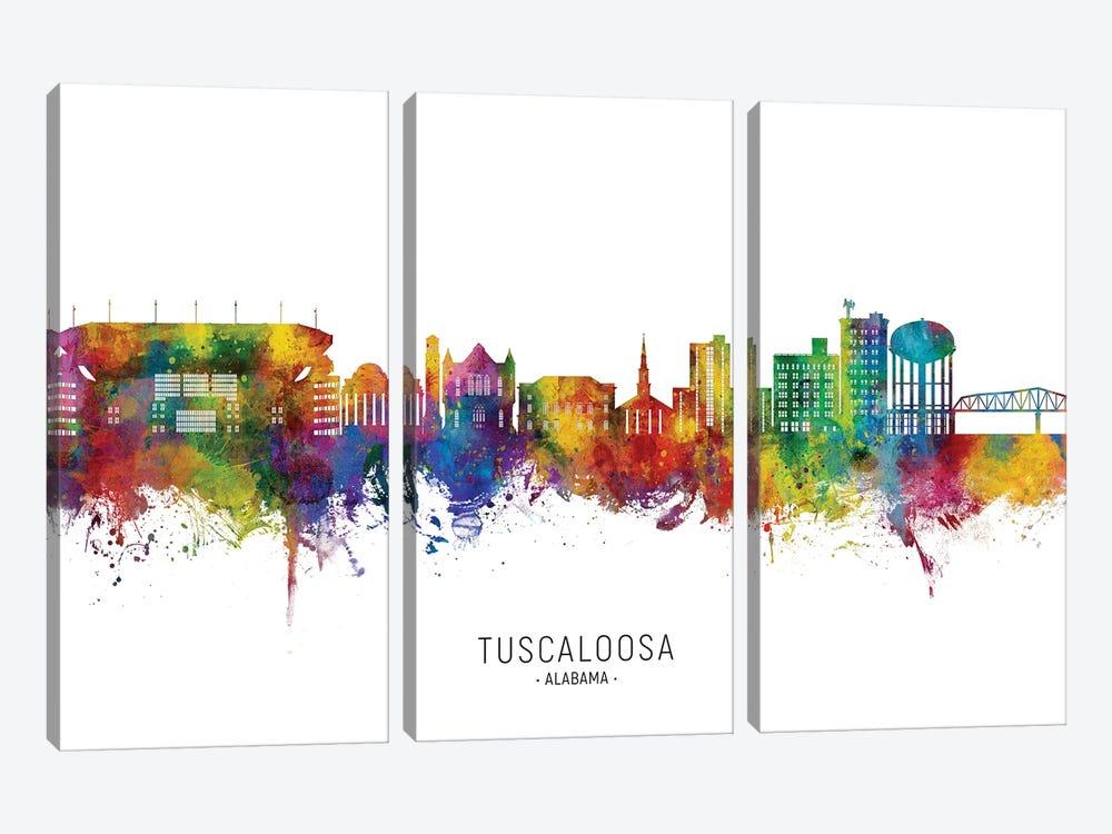 Tuscaloosa Alabama Skyline City Name by Michael Tompsett 3-piece Art Print
