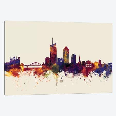 Lyon, France On Beige Canvas Print #MTO326} by Michael Tompsett Canvas Art Print