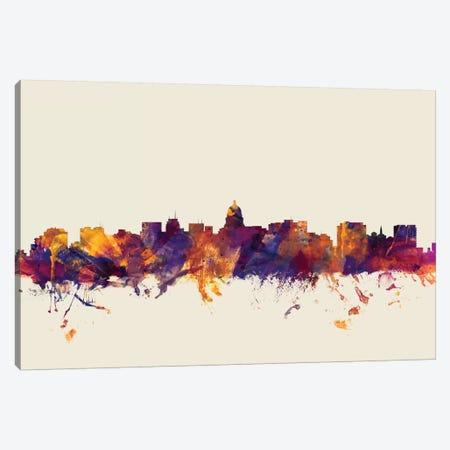 Madison, Wisconsin, USA On Beige Canvas Print #MTO328} by Michael Tompsett Canvas Art