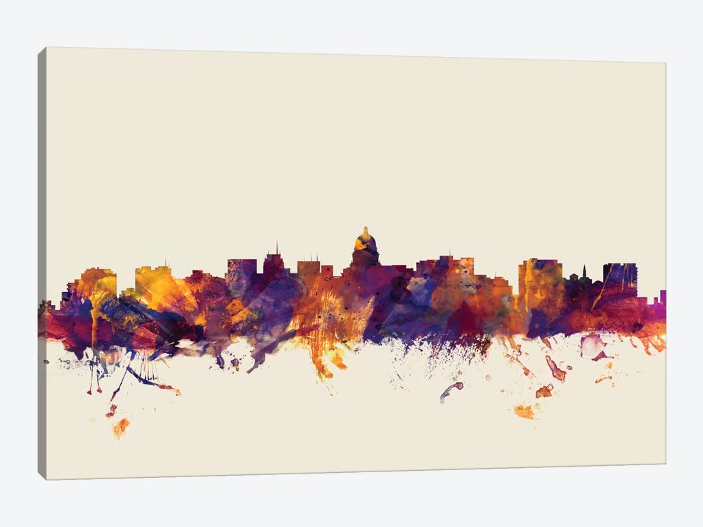 Madison, Wisconsin, USA On Beige by Michael Tompsett 1-piece Art Print