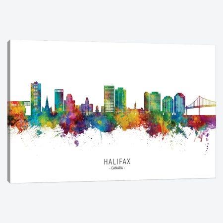 Halifax Canada Skyline City Name Canvas Print #MTO3301} by Michael Tompsett Canvas Art