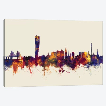 Malmo, Sweden On Beige Canvas Print #MTO332} by Michael Tompsett Canvas Art Print