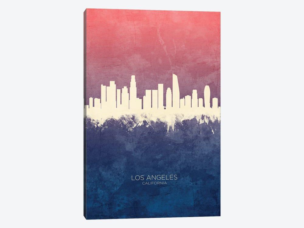 Los Angeles California Skyline Blue Rose by Michael Tompsett 1-piece Art Print