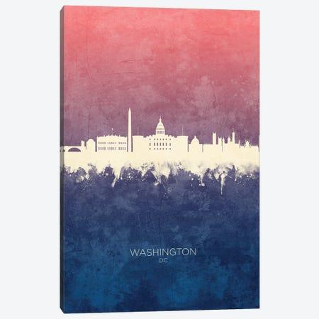 Washington DC Skyline Blue Rose Canvas Print #MTO3334} by Michael Tompsett Canvas Artwork