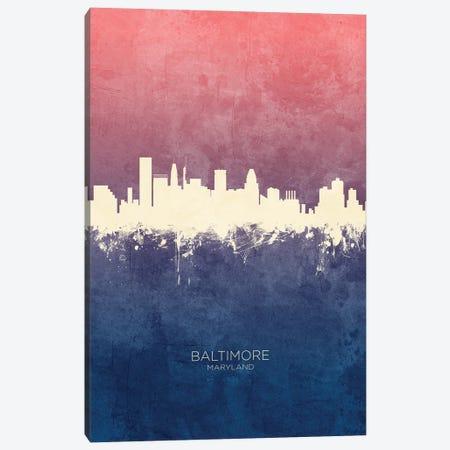 Baltimore Maryland Skyline Blue Rose Canvas Print #MTO3337} by Michael Tompsett Canvas Artwork
