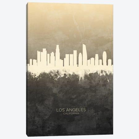 Los Angeles California Skyline Taupe Canvas Print #MTO3373} by Michael Tompsett Canvas Print