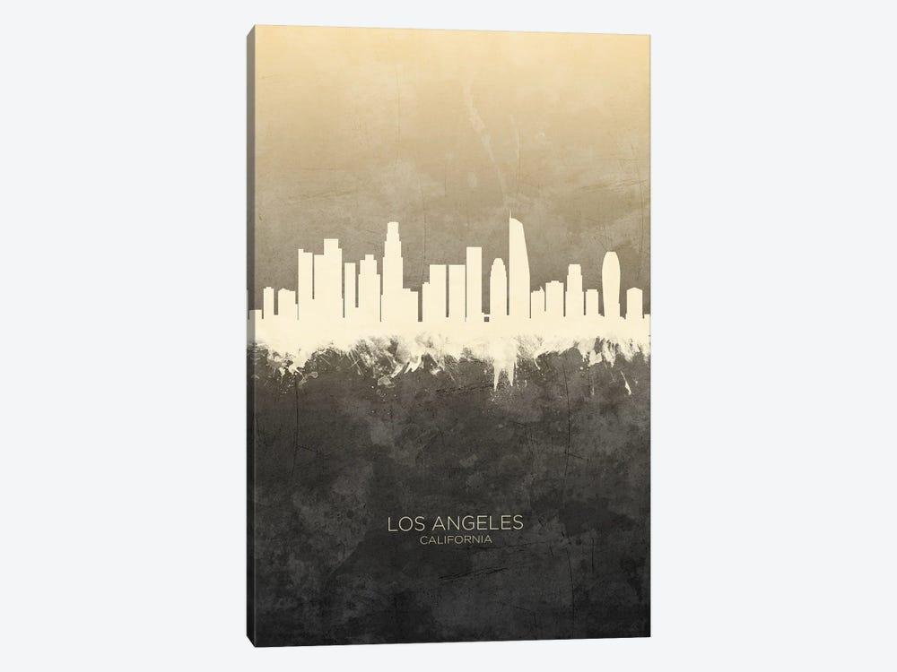 Los Angeles California Skyline Taupe by Michael Tompsett 1-piece Art Print