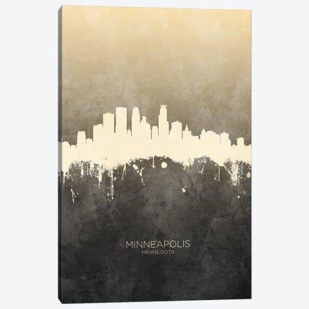 Minneapolis Minnesota Skyline Taupe Canvas Print #MTO3383} by Michael Tompsett Canvas Wall Art