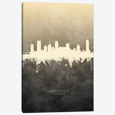 Nashville Tennessee Skyline Taupe Canvas Print #MTO3384} by Michael Tompsett Art Print