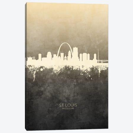St Louis Missouri Skyline Taupe Canvas Print #MTO3385} by Michael Tompsett Art Print