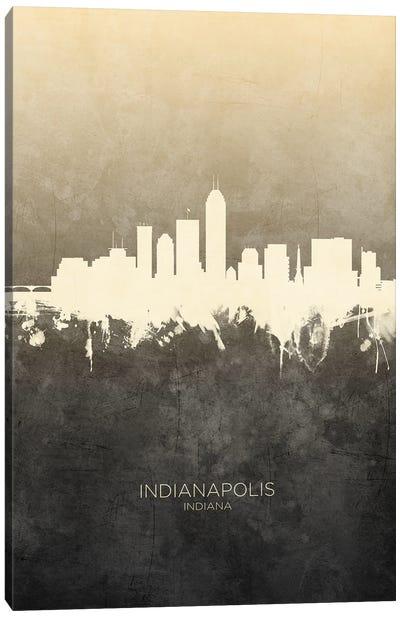 Indianapolis Indiana Skyline Taupe Canvas Art Print