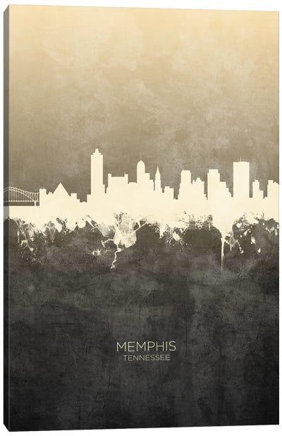 Memphis Tennessee Skyline Taupe Canvas Art Print