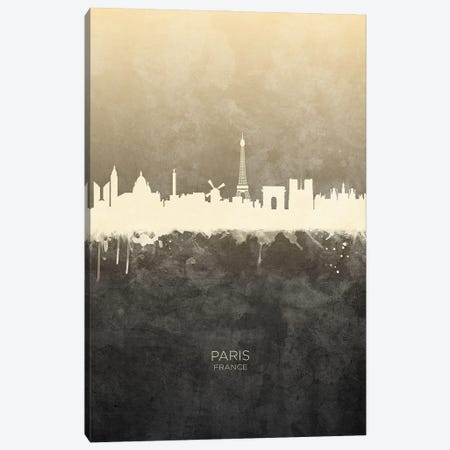 Paris France Skyline Taupe Canvas Print #MTO3392} by Michael Tompsett Art Print