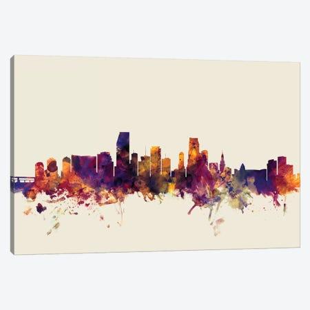 Miami, Florida, USA On Beige Canvas Print #MTO340} by Michael Tompsett Canvas Art