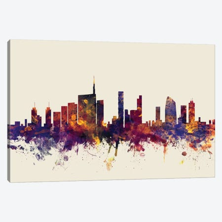 Milan, Italy On Beige Canvas Print #MTO342} by Michael Tompsett Canvas Art