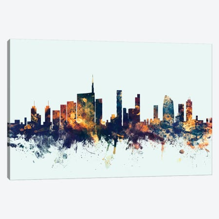 Milan, Italy On Blue Canvas Print #MTO343} by Michael Tompsett Canvas Wall Art