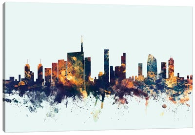 Milan, Italy On Blue Canvas Art Print