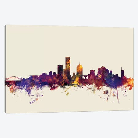 Milwaukee, Wisconsin, USA On Beige Canvas Print #MTO344} by Michael Tompsett Art Print
