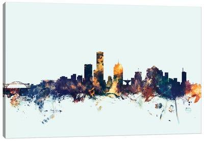 Skyline Series: Milwaukee, Wisconsin, USA On Blue Canvas Print #MTO345