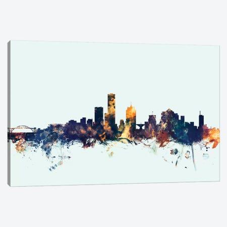 Milwaukee, Wisconsin, USA On Blue Canvas Print #MTO345} by Michael Tompsett Canvas Print