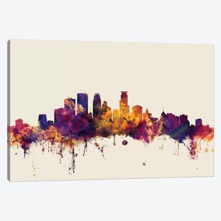 Minneapolis, Minnesota, USA On Beige Canvas Print #MTO346} by Michael Tompsett Art Print