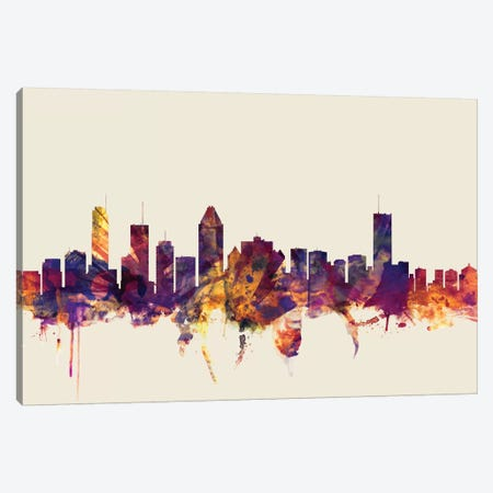 Montreal, Canada On Beige Canvas Print #MTO348} by Michael Tompsett Canvas Artwork