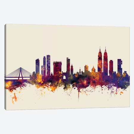 Mumbai (Bombay), India On Beige Canvas Print #MTO352} by Michael Tompsett Canvas Print