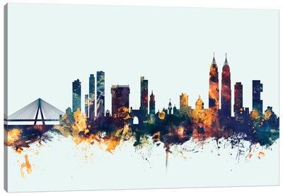 Skyline Series: Mumbai (Bombay), India On Blue Canvas Print #MTO353