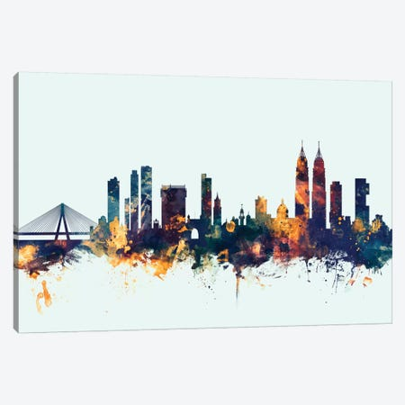 Mumbai (Bombay), India On Blue Canvas Print #MTO353} by Michael Tompsett Art Print