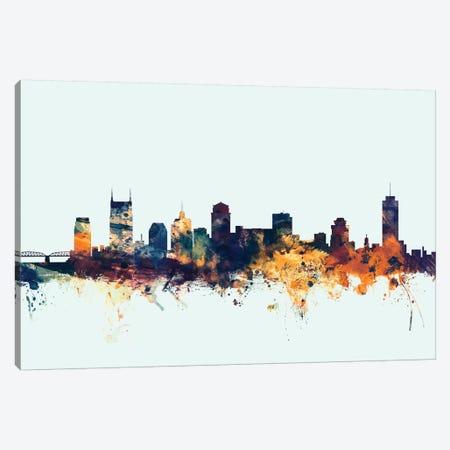 Nashville, Tennessee, USA On Blue Canvas Print #MTO355} by Michael Tompsett Canvas Art