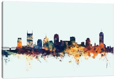 Nashville, Tennessee, USA On Blue Canvas Art Print