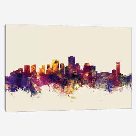 New Orleans, Louisiana, USA On Beige Canvas Print #MTO358} by Michael Tompsett Art Print