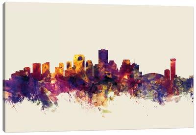 Skyline Series: New Orleans, Louisiana, USA On Beige Canvas Print #MTO358