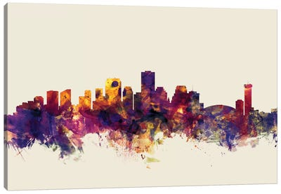 New Orleans, Louisiana, USA On Beige Canvas Art Print