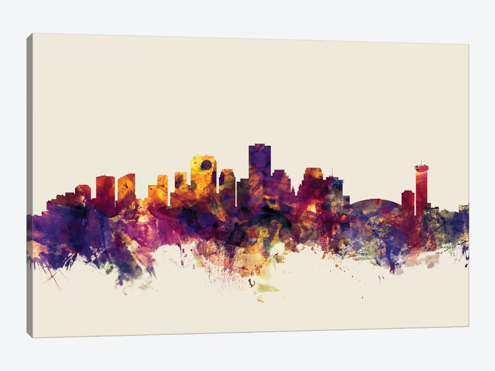 Skyline Series: New Orleans, Louisiana, USA On Beige by Michael Tompsett 1-piece Canvas Wall Art