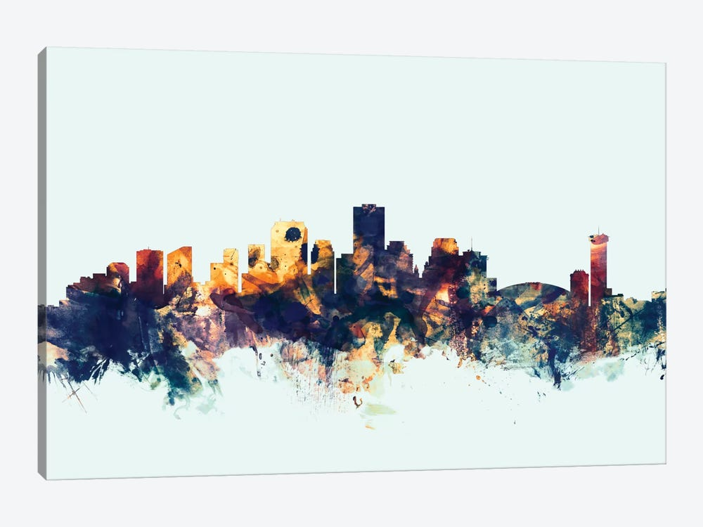 Skyline Series: New Orleans, Louisiana, USA On Blue 1-piece Canvas Print