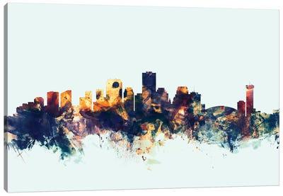 New Orleans, Louisiana, USA On Blue Canvas Art Print