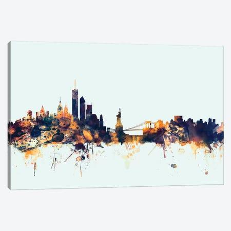 New York City, New York, USA I On Blue Canvas Print #MTO361} by Michael Tompsett Canvas Art