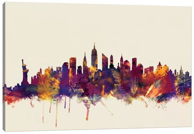 New York City, New York, USA II On Beige Canvas Art Print