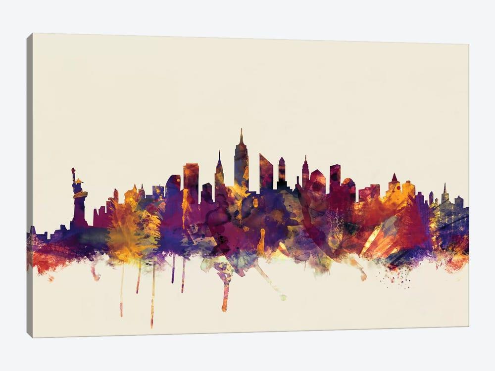 New York City, New York, USA II On Beige by Michael Tompsett 1-piece Art Print