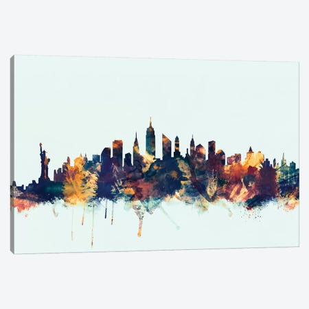 New York City, New York, USA II On Blue Canvas Print #MTO363} by Michael Tompsett Canvas Artwork