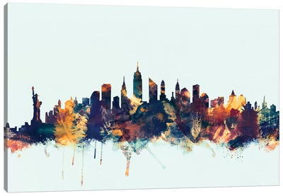 New York City, New York, USA II On Blue Canvas Art Print