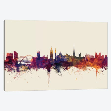 Newcastle, England, United Kingdom On Beige Canvas Print #MTO364} by Michael Tompsett Canvas Art Print