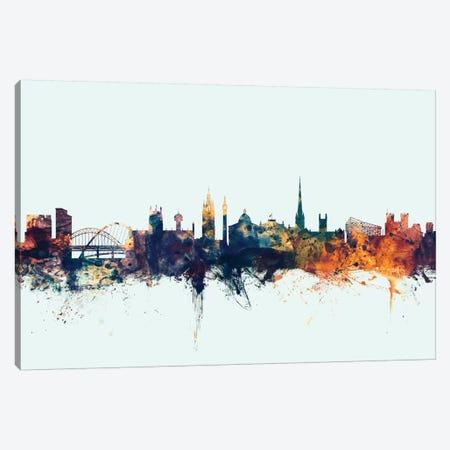 Newcastle, England, United Kingdom On Blue Canvas Print #MTO365} by Michael Tompsett Canvas Print