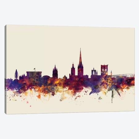 Norwich, England, United Kingdom On Beige Canvas Print #MTO366} by Michael Tompsett Canvas Art Print
