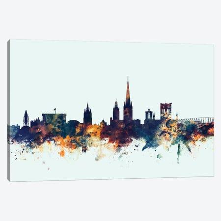 Norwich, England, United Kingdom On Blue Canvas Print #MTO367} by Michael Tompsett Canvas Art Print